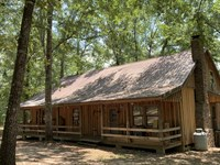 Large Cypress Lodge With Lake : Cuthbert : Randolph County : Georgia