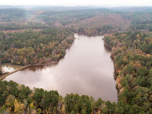 Very Private 24 Acre Lake & Cabin : Fayette : Lamar County : Alabama