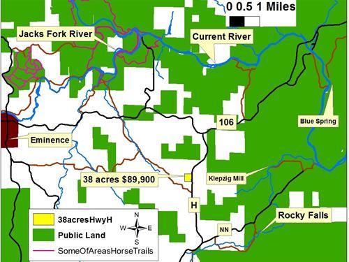 Land Eminence & Winona, Mo, 37.81 : Winona : Shannon County : Missouri