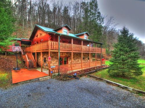 East Tennessee Log Home Cosby TN : Cosby : Cocke County : Tennessee