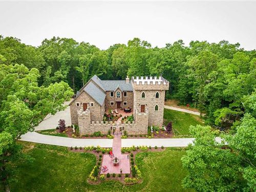 One-Of-A-Kind Castle Home Near Nix : Nixa : Stone County : Missouri