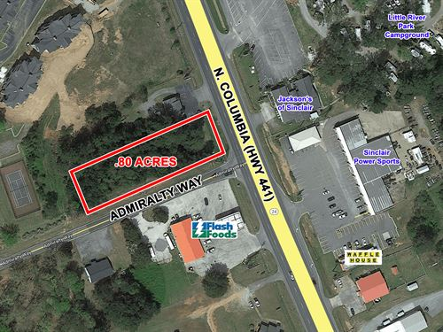 Commercial Lot For Sale : Milledgeville : Baldwin County : Georgia