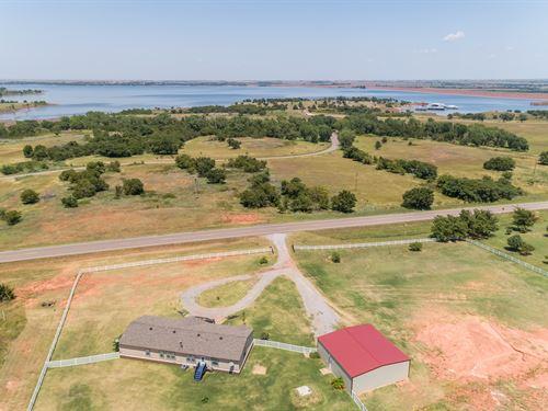 Lake View Property, 4 Bed-2 Bath : Foss : Custer County : Oklahoma