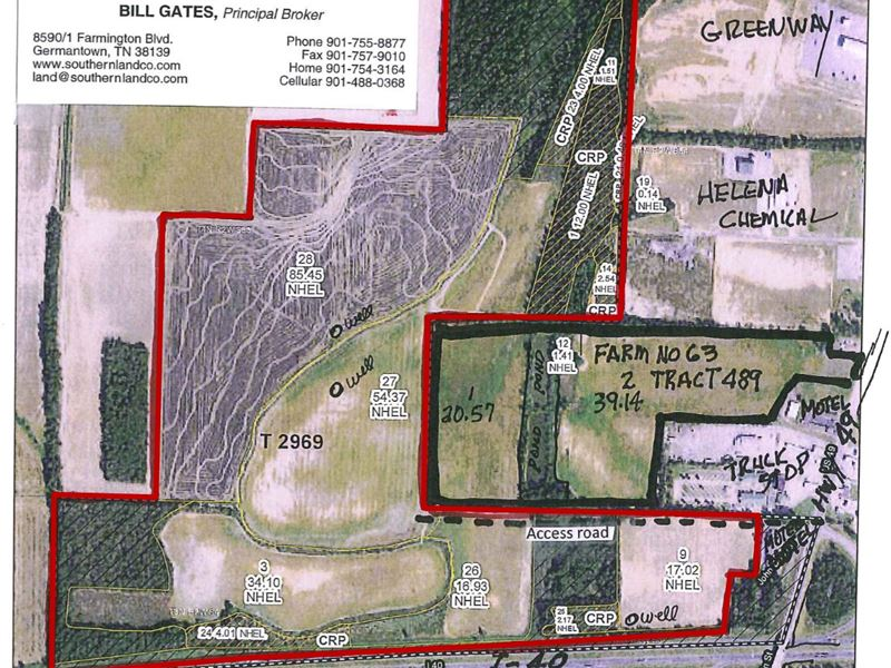 296 +/- Acres Farm & Hunting Land : Brinkley : Monroe County : Arkansas