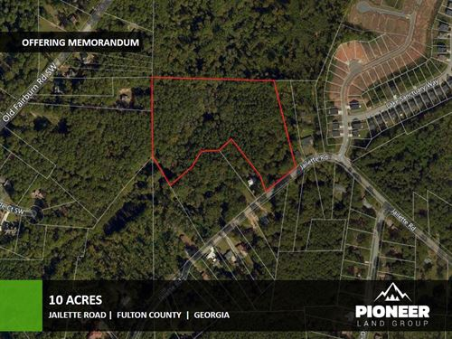 10 Acres Jailette Road : College Park : Fulton County : Georgia