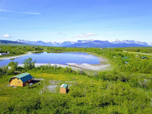 Duck Lake Cabin : Babb : Glacier County : Montana