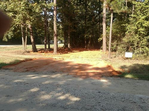 Corner Rv Lot Cleared With Culvert : Livingston : Polk County : Texas