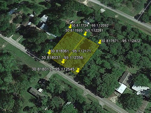 Double Lot Rv Living 0.36 Acre : Onalaska : Polk County : Texas