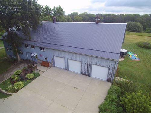 Barn Home 70+ Acres Jefferson : Fort Atkinson : Jefferson County : Wisconsin