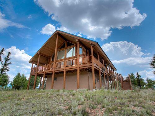 Stunning Log Mountain Home 360 : Como : Park County : Colorado