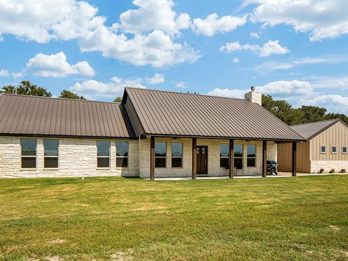 Beautiful 2018 Home On 26.69 Acres : Gause : Milam County : Texas