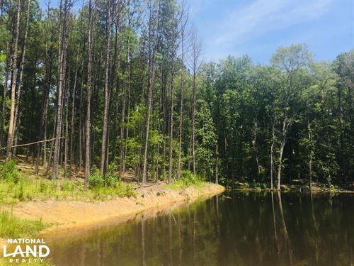 Shivers Green Homesite With Pond : Ridgeway : Kershaw County : South Carolina