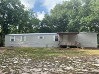 20 Acres, 2/2 Mobile Home : Chiefland : Levy County : Florida