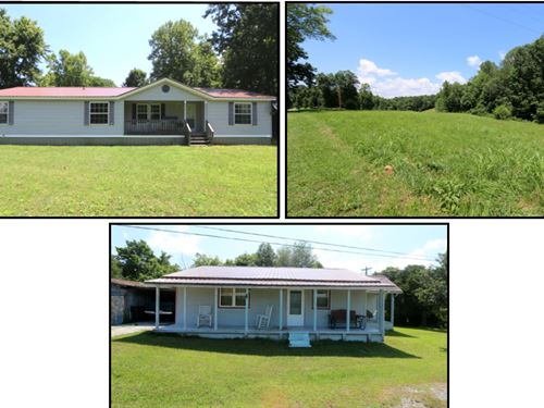 House & Doublewide In 3 Tracts : Gainesboro : Jackson County : Tennessee