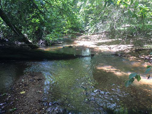 46+/- Acres With Mountain Creek : Bowdon : Carroll County : Georgia