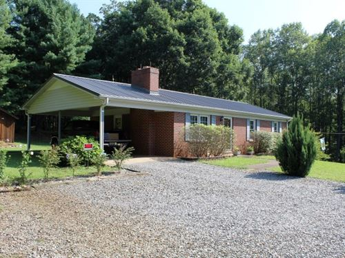 Ranch Style Home Located Patrick : Ararat : Patrick County : Virginia