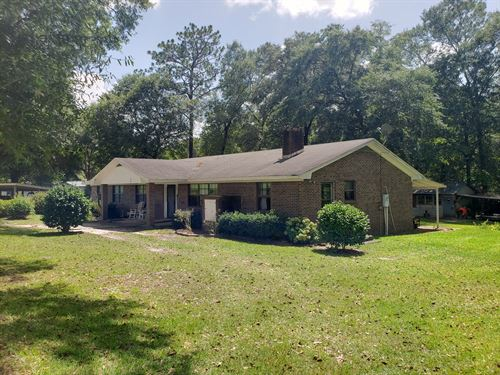 4B/3B Brick Home 12 Acres, Samson : Kinston : Geneva County : Alabama