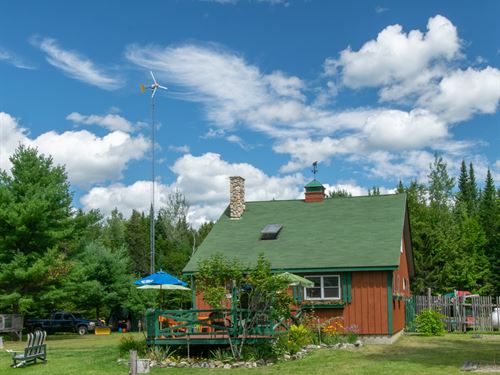 Off-Grid Contemporary County Home : Crystal : Aroostook County : Maine