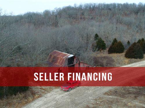 $500 Down On 13 Acres, Old Barn : Ava : Douglas County : Missouri