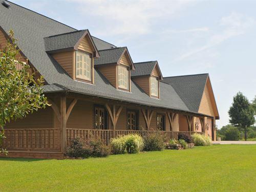 Custom Home & 60 Acres : Fairmont : Garfield County : Oklahoma