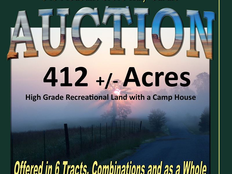 Land And Home Offered In 6 Tracts : Sardis : Panola County : Mississippi