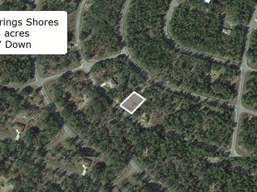 Partially Cleared .24 Acre Lot : Ocklawaha : Marion County : Florida