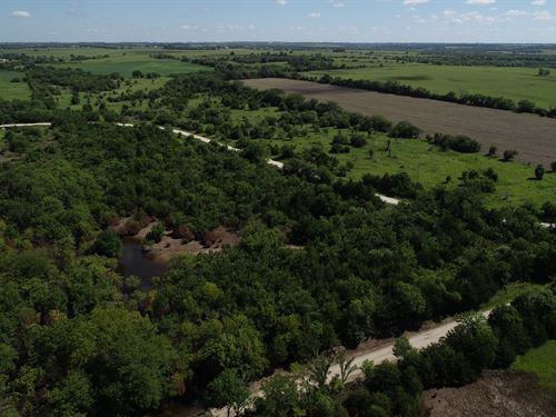 80 Acres, Tillable And Hunting : Overbrook : Osage County : Kansas
