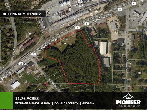 11.76 Acres Veterans Memorial Hwy : Douglasville : Douglas County : Georgia