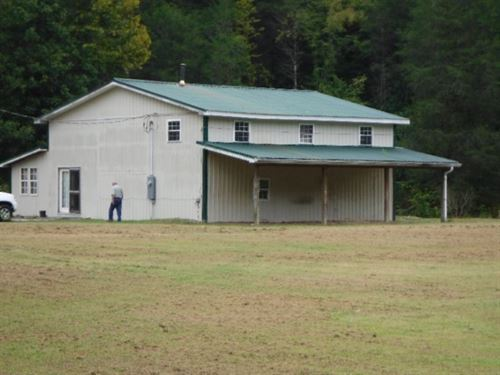 32+ Ac, Unfinished Home, Creek : Whitleyville : Jackson County : Tennessee