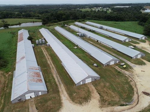 Cox Poultry, 6 House Broiler Farm : Boaz : Blount County : Alabama