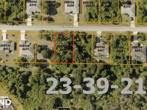 Nice Lot in North Port : North Port : Sarasota County : Florida