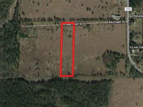 Rare Unrestricted 5.75 Acres : Vidor : Orange County : Texas