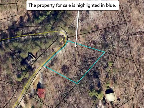 Creek Lot In Nice Subdivision : Ellijay : Gilmer County : Georgia