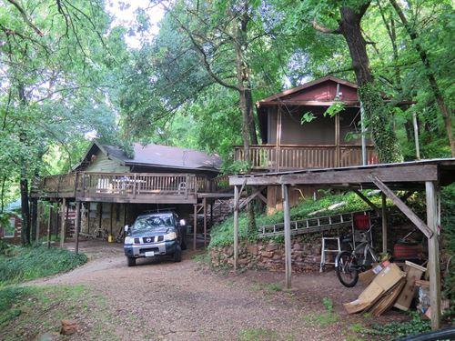 Log Home, Guest Cabin, Spavinaw : Spavinaw : Delaware County : Oklahoma
