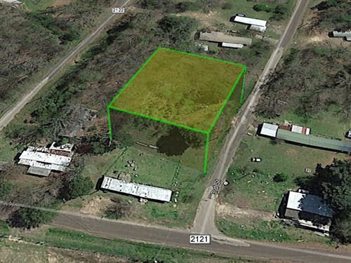 125' Of Road Frontage 0.28 Acres : Quitman : Wood County : Texas