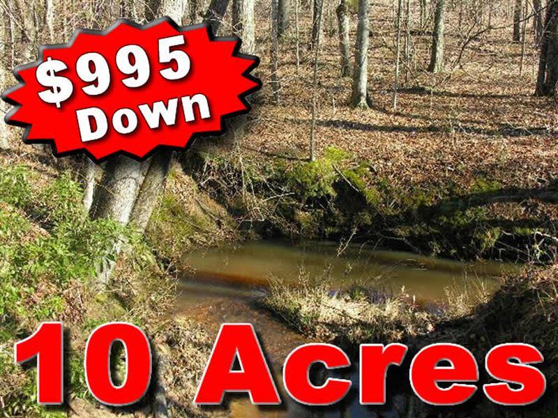 10 Acres Owner Financing : White Plains : Hancock County : Georgia