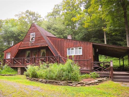 Mountain Home Stream Through Wooded : Wellsboro : Tioga County : Pennsylvania