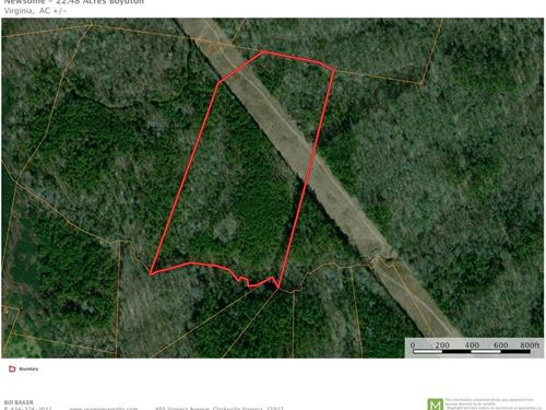 Over 22 Acres Minutes to Buggs : Boydton : Mecklenburg County : Virginia