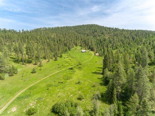 Home With Acreage in North Idaho : Worley : Kootenai County : Idaho