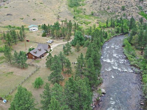 Poudre River Frontage & Home : Fort Collins : Larimer County : Colorado