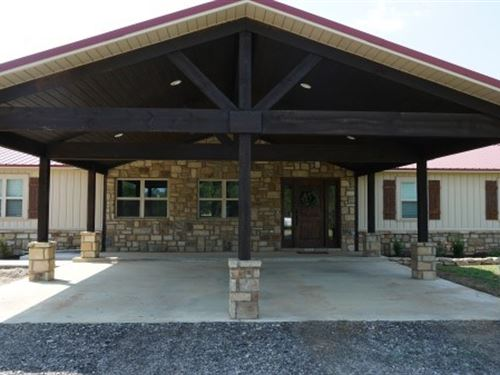Oklahoma Country Custom Home : Poteau : Le Flore County : Oklahoma