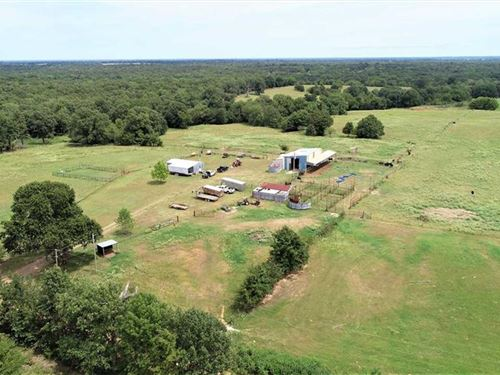 Recreation Land With Cabin : Grant : Choctaw County : Oklahoma