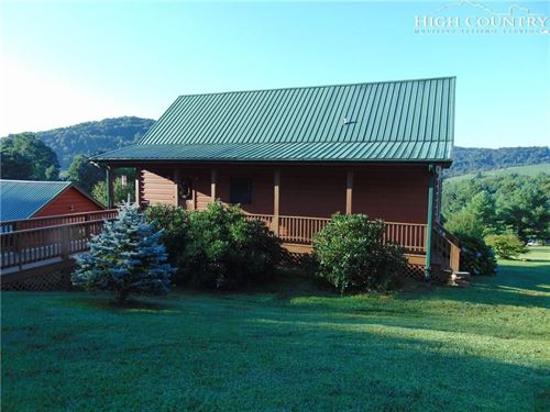 Log Home With a Beautiful View : Sparta : Alleghany County : North Carolina