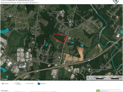 20 Acre Commercial Site Near Duncan : Duncan : Spartanburg County : South Carolina