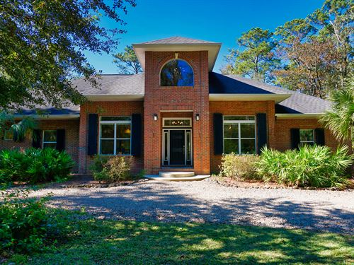 Stunning Estate And Land, Spring : Crawfordville : Wakulla County : Florida