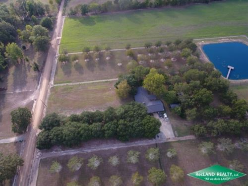 30 Ac, Custom Home On Fenced Pastu : Fort Necessity : Franklin Parish : Louisiana