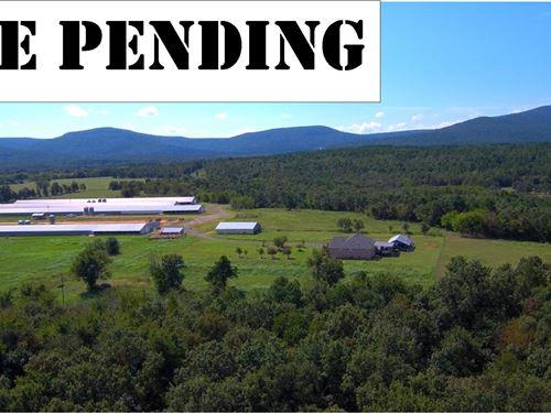 Arkansas Broiler Farm 4 Houses : Mansfield : Sebastian County : Arkansas