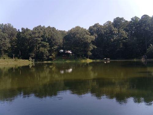 Log Home With Lake : Vicksburg : Warren County : Mississippi
