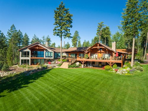 Contemporary Luxury Lodge : Lakeside : Lake County : Montana