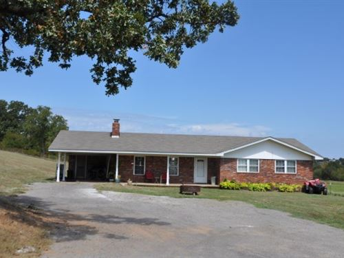 Country Home 20 Acres Cattle : Howe : Le Flore County : Oklahoma